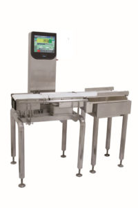 Yamato I series checkweigher with LED monitor system
